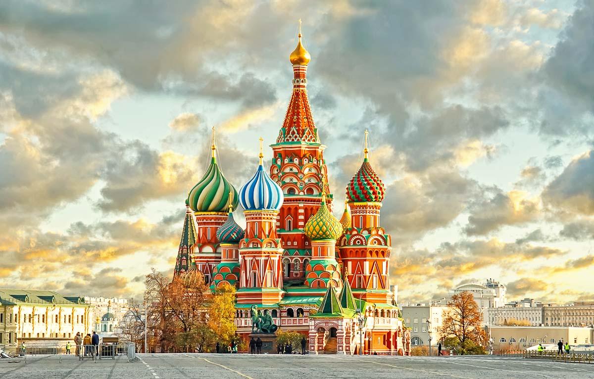 cathédrale place Rouge à Moscou