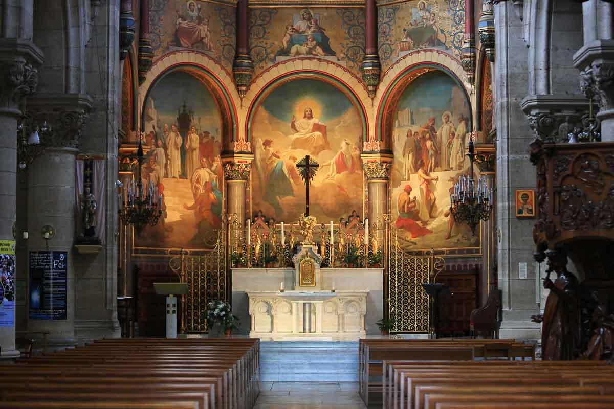 église Saint-Clodoald intérieur