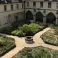 jardin du cloître de l'abbaye de Chelles