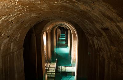 réservoir de Montsouris cathédrale d'eau souterraine Paris