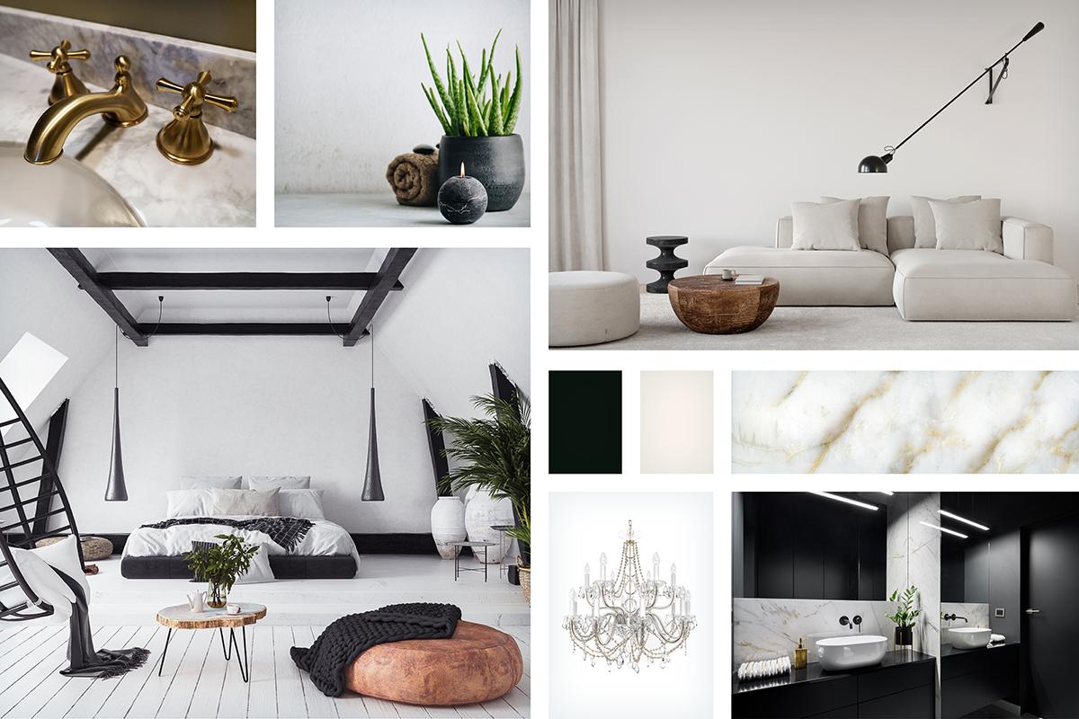 tendances couleurs noir et blanc
