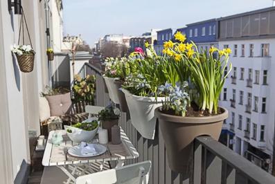 jardinière petit balcon