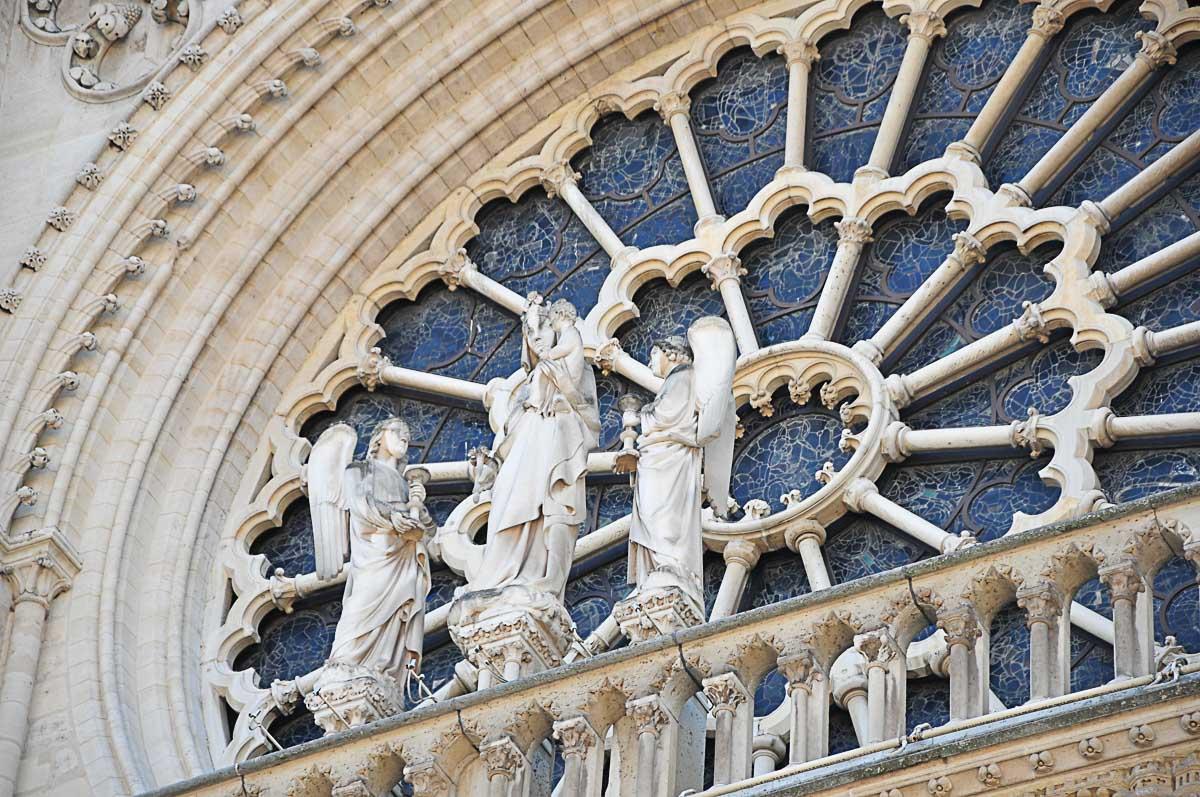 Rosace, Notre-Dame de Paris